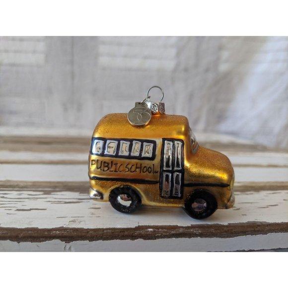 Dept 56 school bus public ornament Xmas holiday tr